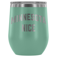 Minnesota Nice Block Wine Tumbler in Teal
