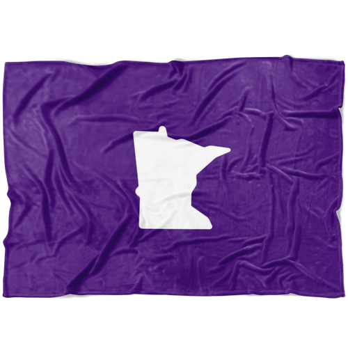 Minnesota Fleece Blanket in Purple and White