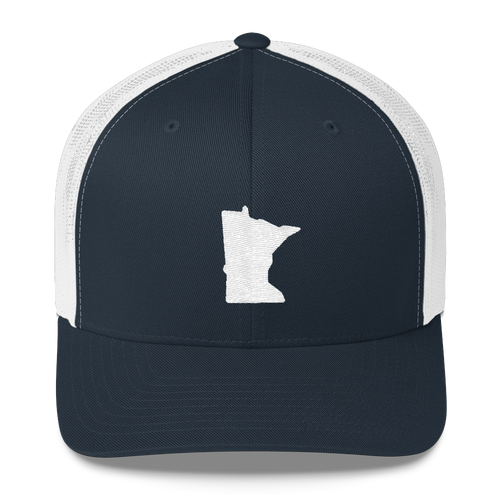Minnesota Trucker Cap in Navy and White
