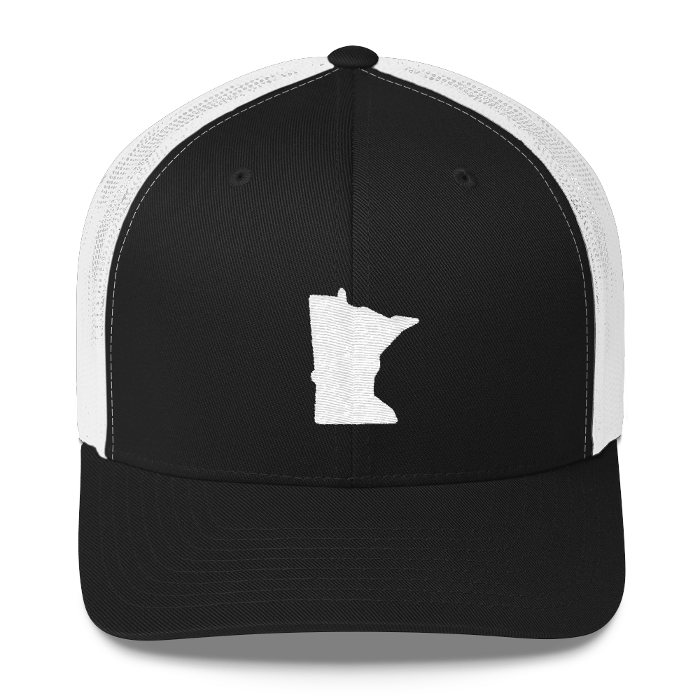 Minnesota Trucker Cap in Black and White