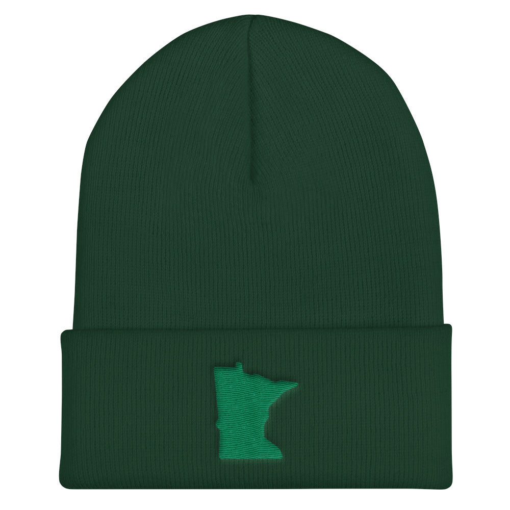 Minnesota Cuffed Beanie in Green