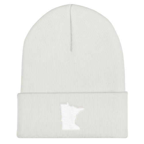 Minnesota Cuffed Beanie in White