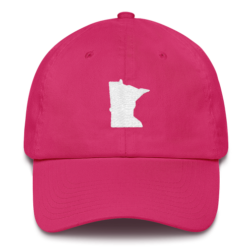 Minnesota Unstructured Cap in Pink and White