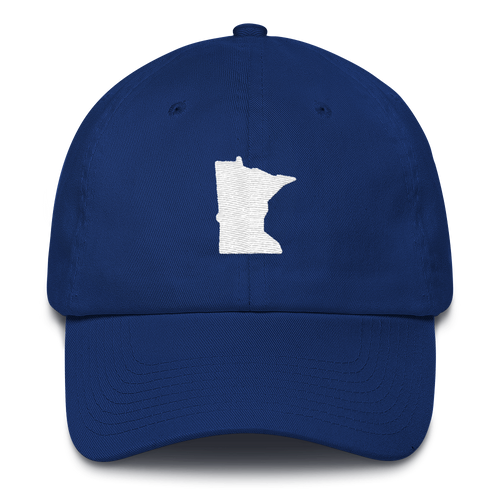 Minnesota Unstructured Cap in Royal Blue and White