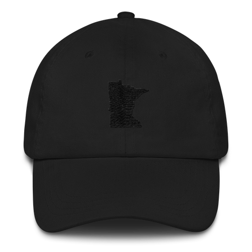 Minnesota Unstructured Cap in Black and Black