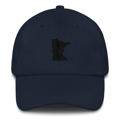 Minnesota Unstructured Cap in Navy and Black