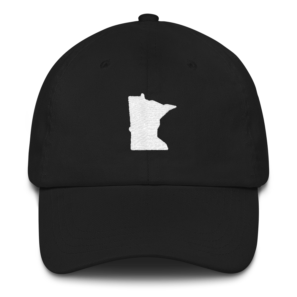 Minnesota Unstructured Cap in Black and White