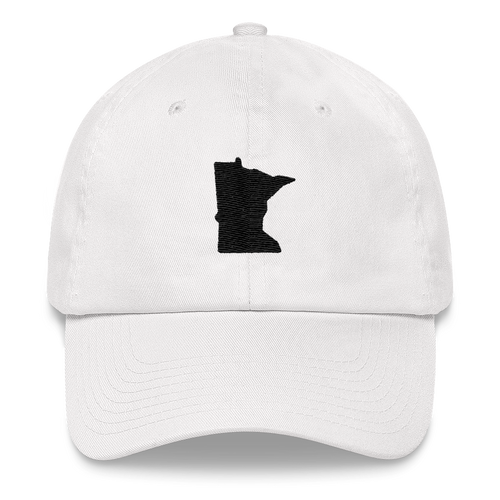 Minnesota Unstructured Cap in White and Black