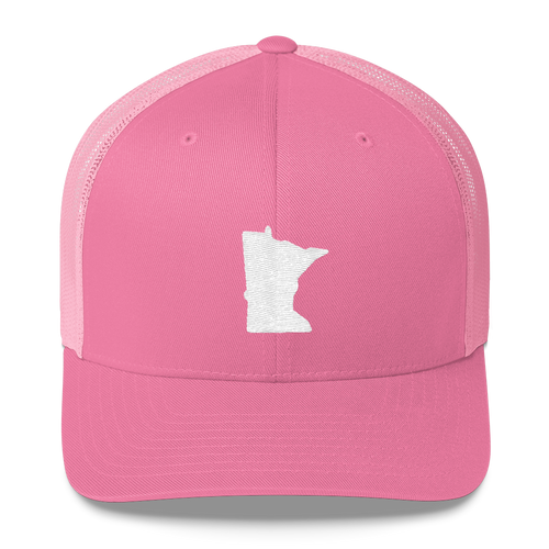 Minnesota Trucker Cap in Pink and White