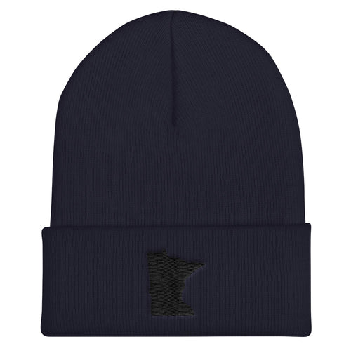 Minnesota Cuffed Beanie in Navy