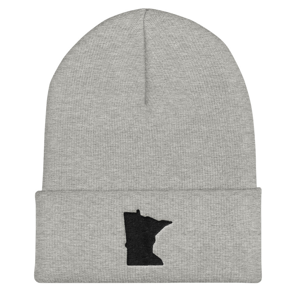 Minnesota Cuffed Beanie in Grey