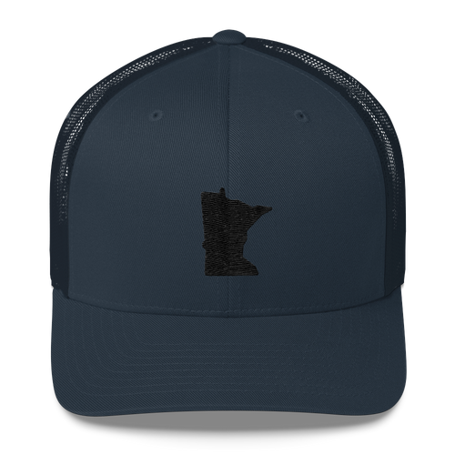Minnesota Trucker Cap in Navy and Black