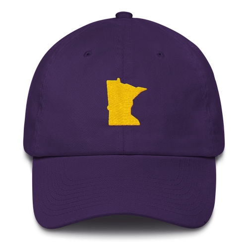 Minnesota Unstructured Cap in Purple and Gold