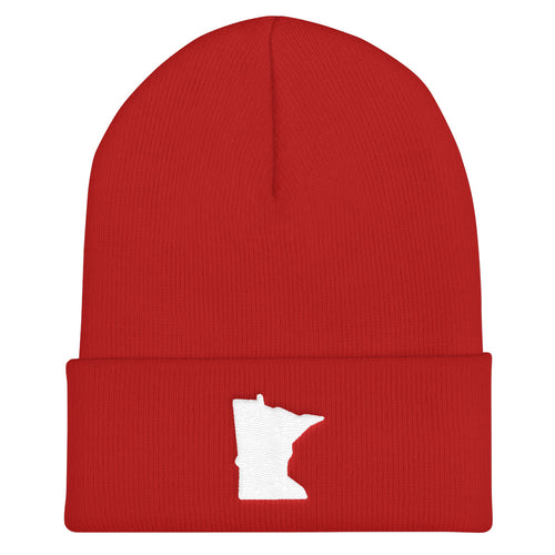 Minnesota Cuffed Beanie in Red