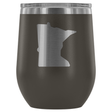 Minnesota Wine Tumbler in Pewter
