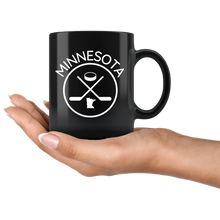 Black Minnesota Hockey Mug
