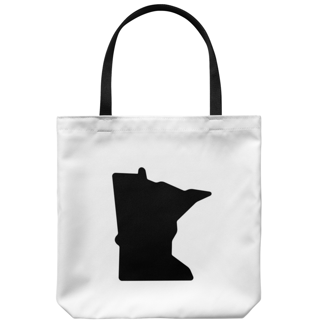 Minnesota Tote Bag in White and Black