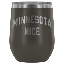 Minnesota Nice Block Wine Tumbler in Pewter