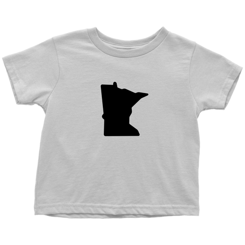 Minnesota Toddler Tee in White