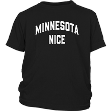 Minnesota Nice Block Youth Tee in Black