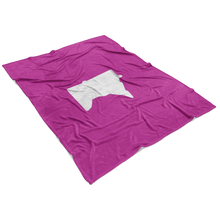 Minnesota Fleece Blanket in Pink and White View