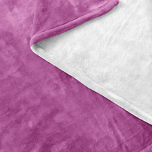 Minnesota Fleece Blanket in Pink and White Up Close