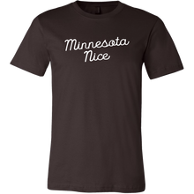 Minnesota Nice Script Men's Tee in Brown