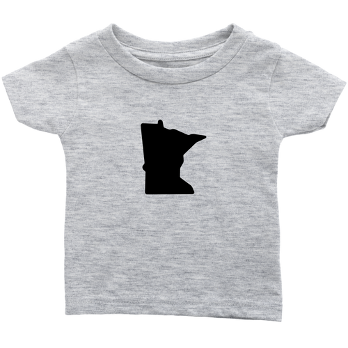 Minnesota Infant Tee in Heather Grey