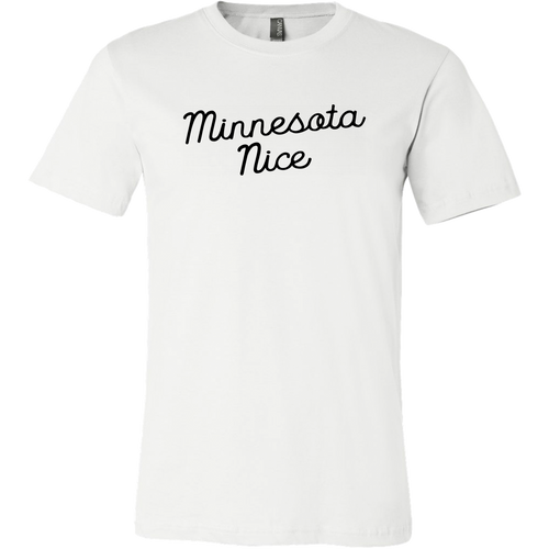 Minnesota Nice Script Men's Tee in White
