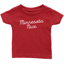 Minnesota Nice Script Infant Tee in Red
