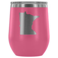Minnesota Wine Tumbler in Pink