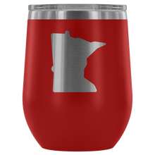 Minnesota Wine Tumbler in Red