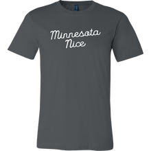 Minnesota Nice Script Men's Tee in Asphalt