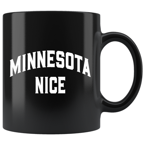 Minnesota Nice Block Mug in Black