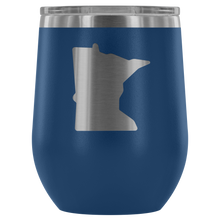 Minnesota Wine Tumbler in Blue