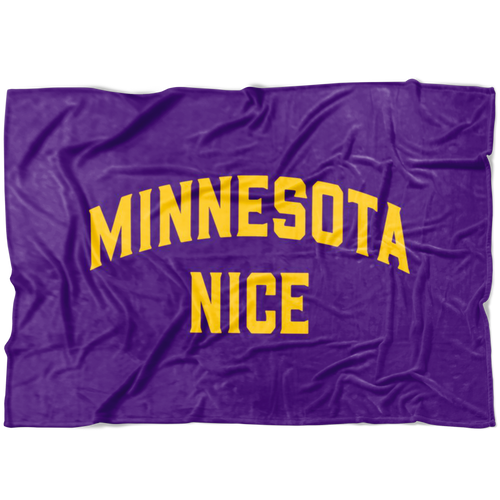 Minnesota Nice Block Fleece Blanket in Purple and Gold