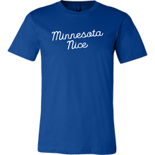 Minnesota Nice Script Men's Tee in Blue