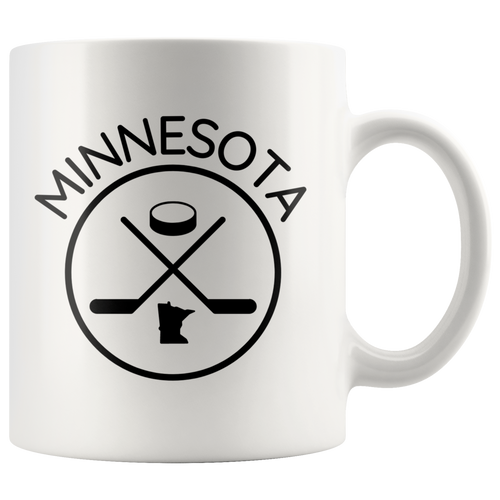 Minnesota Hockey Mug in White