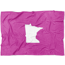 Minnesota Fleece Blanket in Pink and White