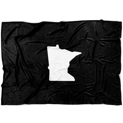 Minnesota Fleece Blanket in Black and White