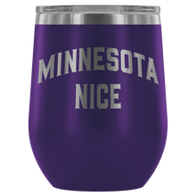 Minnesota Nice Block Wine Tumbler in Purple