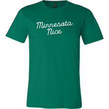 Minnesota Nice Script Men's Tee in Green