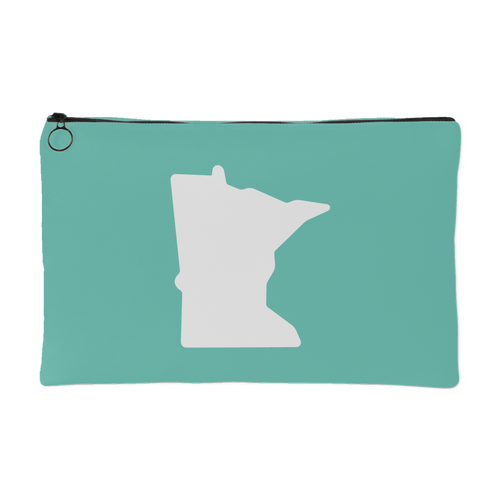 Minnesota Accessory Pouch in Mint and White Small