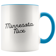 Minnesota Nice Script Accent Mug in Blue