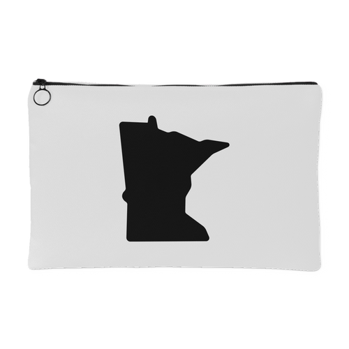 Minnesota Nice Accessory Pouch in White and Black Small