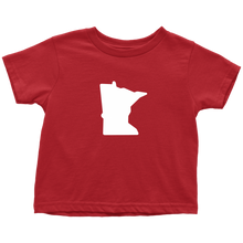 Minnesota Toddler Tee in Red