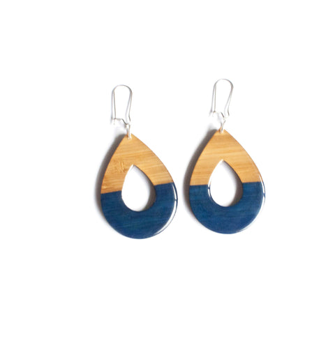 Medium dangly earrings - Navy