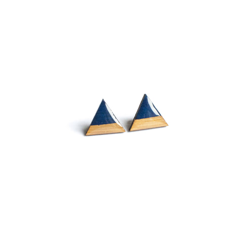 Triangle Studs - Navy