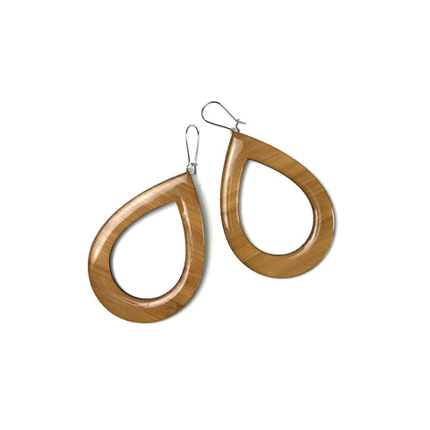 EXTRA Large dangly earrings - nude