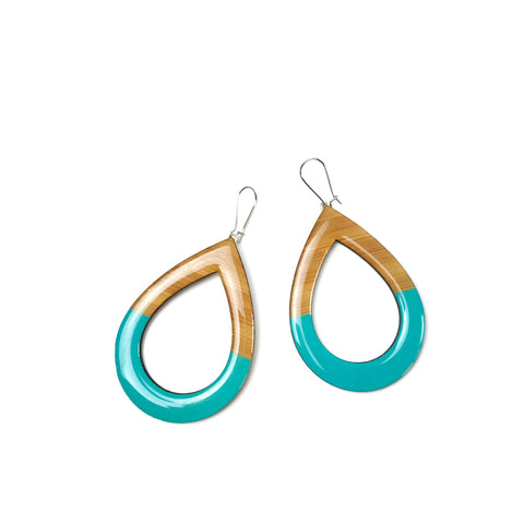 EXTRA Large dangly earrings - Turquoise